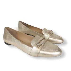 KATY PERRY The Pinz Gold Pin Flats